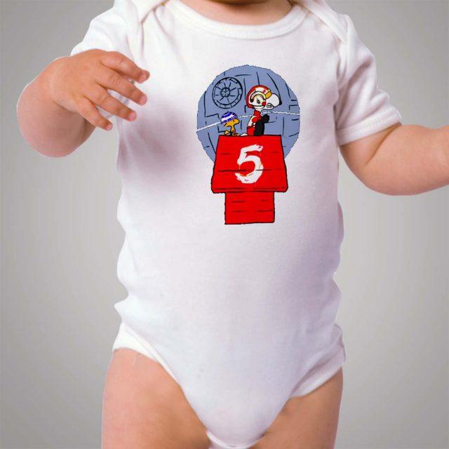 Funny Snoopy Star Wars Parody Baby Onesie Bodysuit