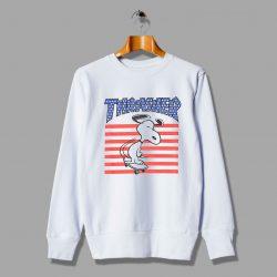 Funny Snoopy USA Skateboard Inspired Sweatshirt