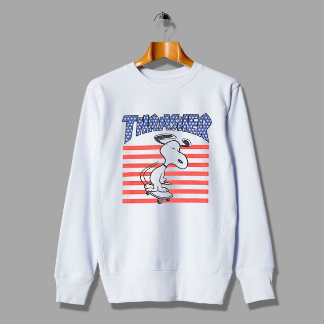 Funny Snoopy USA Skateboard Inspired Sweatshirt