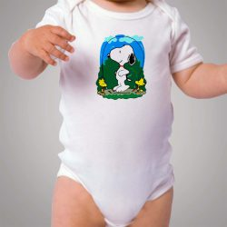 Funny Snoopy and Woodstock Baby Onesie Bodysuit
