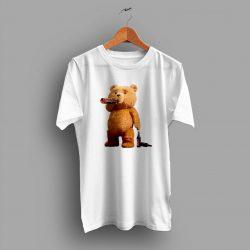 Funny Ted Teddy Bong Stoner Pot Pothead T Shirt