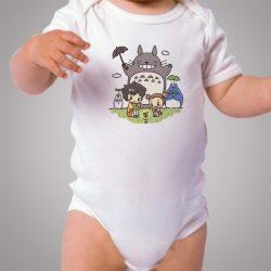 Funny Totoro Ghibli Family Baby Onesie Bodysuit