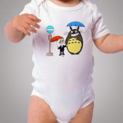 Funny Totoro Neighbor Umbrella Baby Onesie