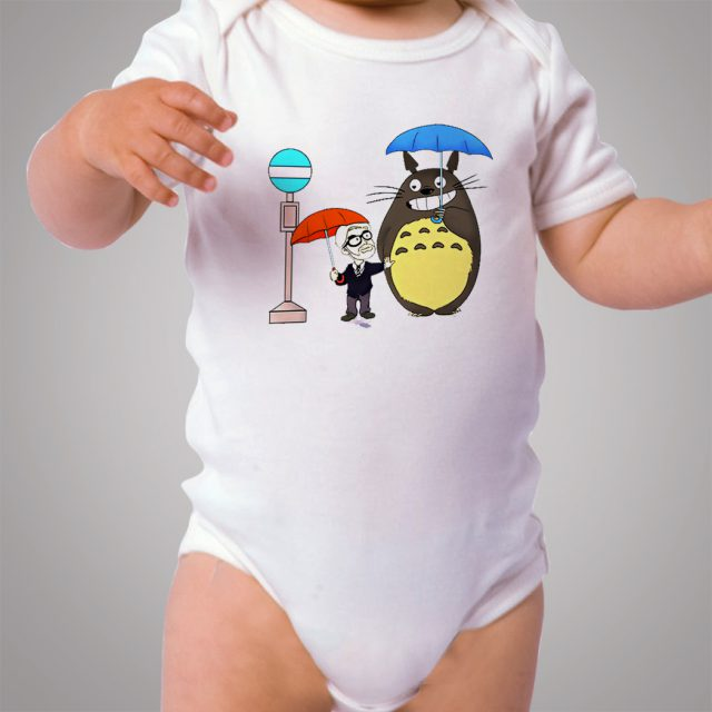 Funny Totoro Neighbor Umbrella Baby Onesie