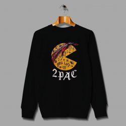 Funny Tupac Pac Man Hip Hop Parody Sweatshirt