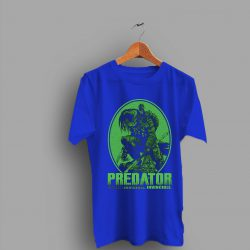 Green Print The Predator Movie Logo T Shirt