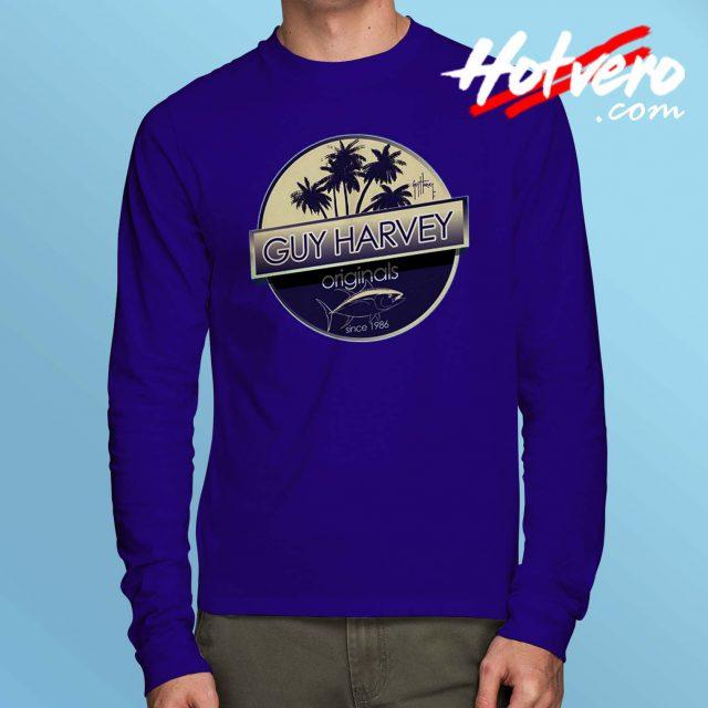 Guy Harvey Tuna Boat Long Sleeve T Shirt