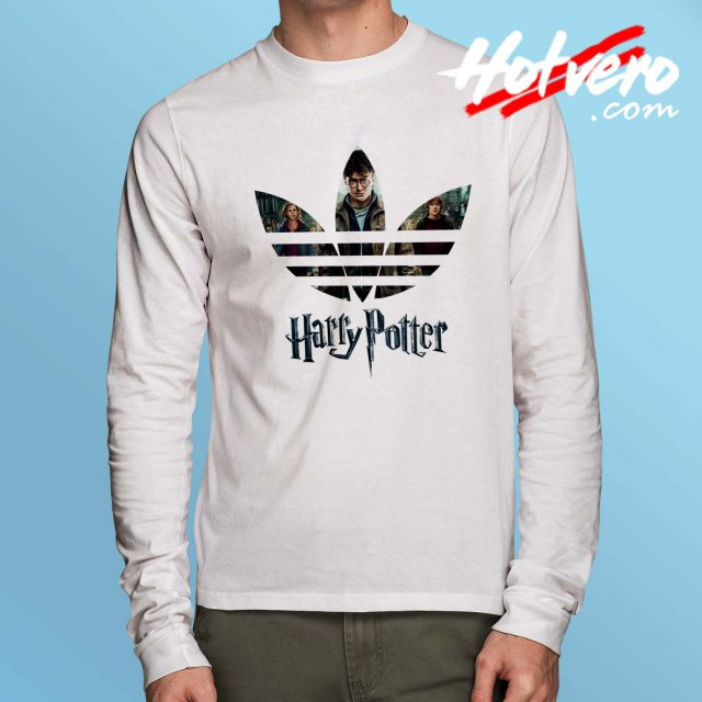 Harry Potter Adidas Inspired Long Sleeve T Shirt