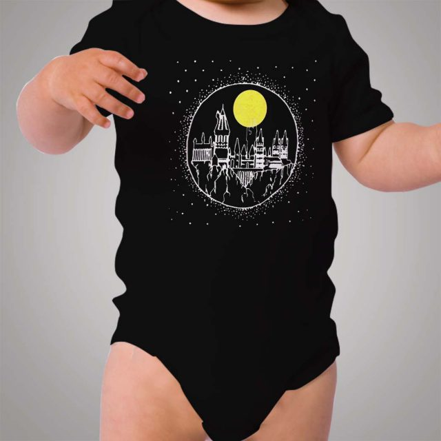 Harry Potter Hogwarts Candle Castle Baby Onesie