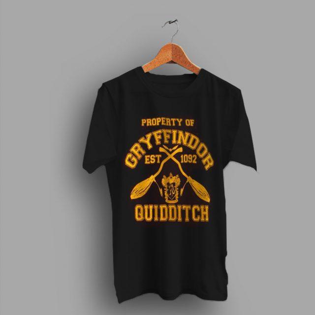 Harry Potter Inspired Gryffindor Quidditch Team T Shirt