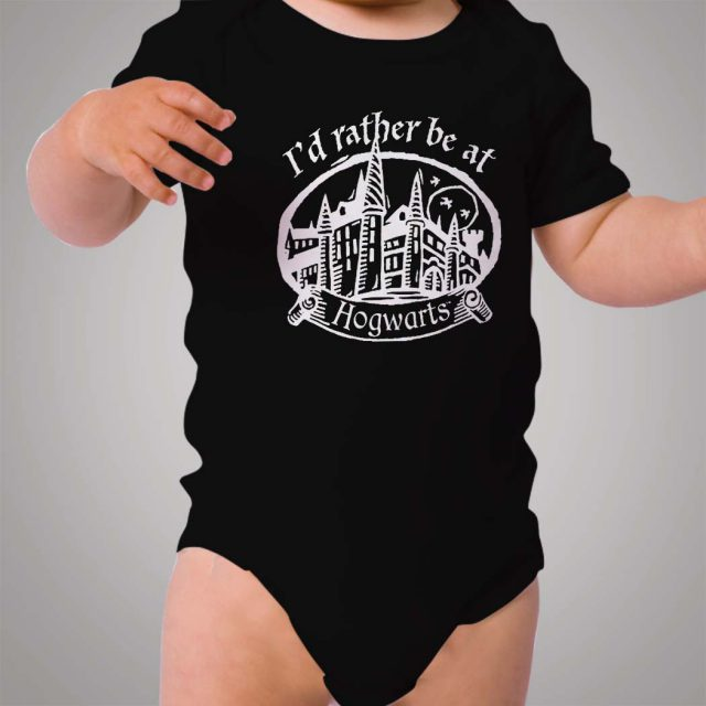 Harry Potter Rather be At Hogwarts Baby Onesie Bodysuit