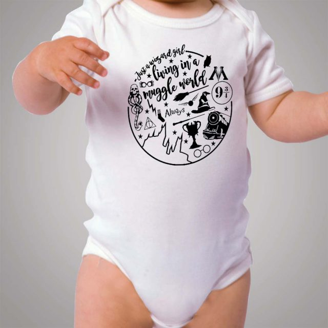 Harry Potter Wizard Girl Circle Baby Onesie Bodysuit