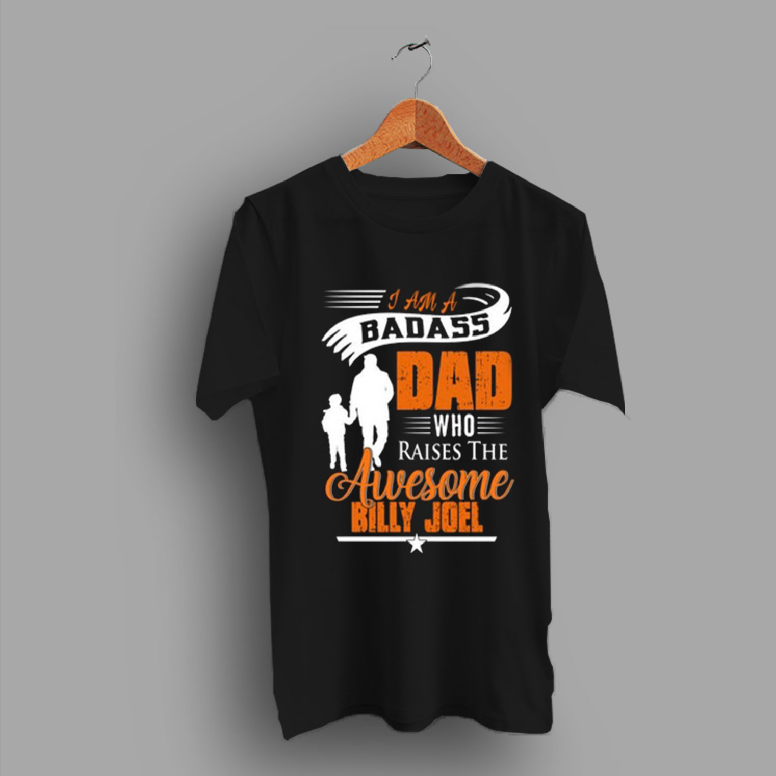 386f7a2a His Good Friend I Badass Dad Who Raises The Awesome Billie Joel T Shirt