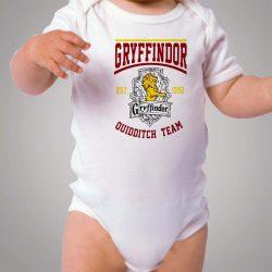 Hogwarts Gryffindor Quidditch Team Baby Onesie Bodysuit