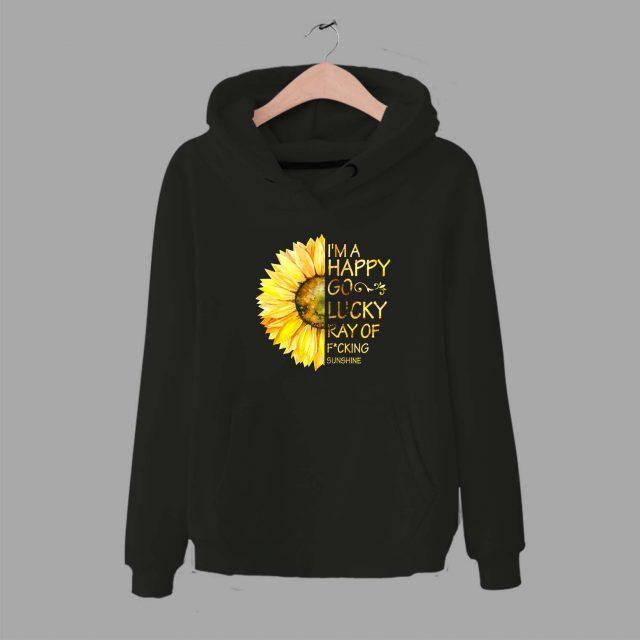 Im A Happy Go Lucky Sunflower Unisex Hoodie