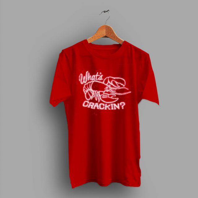 Inspired Lobsters Funny Vintage Whats Crackin T Shirt
