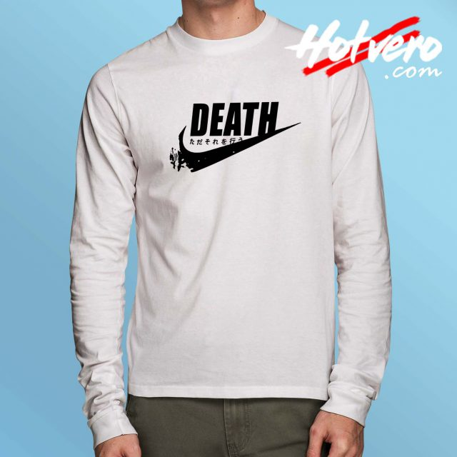 Japanese Death Just Do It Parody Long Sleeve Shirt