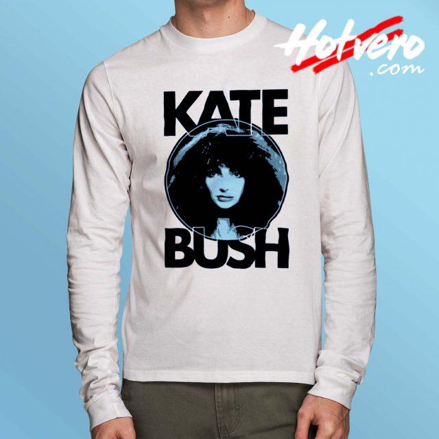 Kate Bush Face English Art Vintage Long Sleeve T Shirt