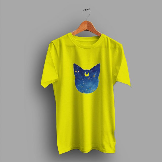 Kawai Midnight Luna Cat Sailoor Moon Cute T Shirt