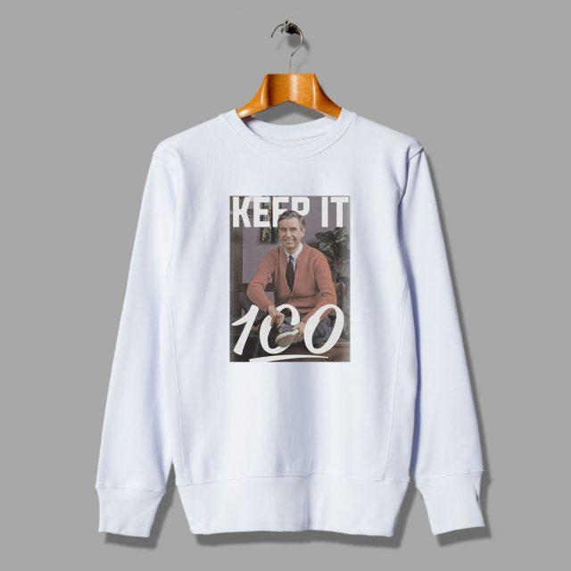 Keep It 100 Emoji Mister Rogers Unisex Sweatshirt