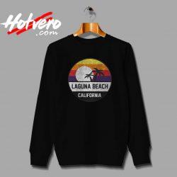 Laguna Beach Retro Sunset Unisex Sweatshirt