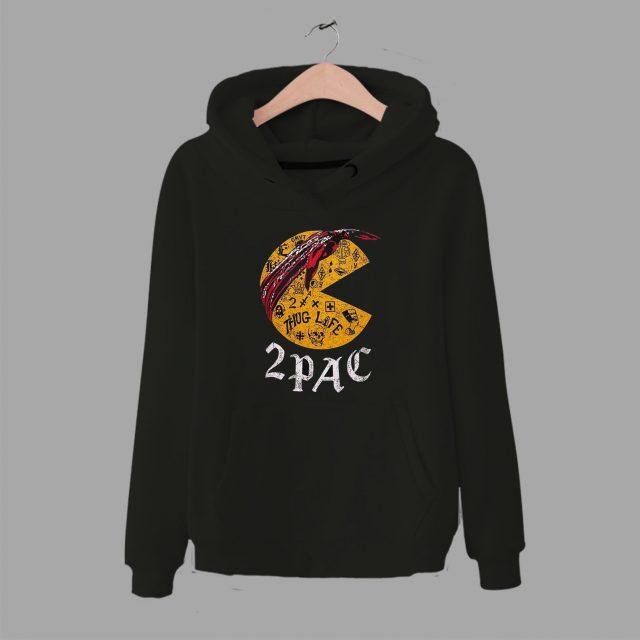 Legend Hip Hop Tupac Pac Man Parody Hoodie