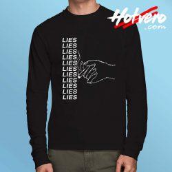 Lies Grunge Long Sleeve T Shirt Design