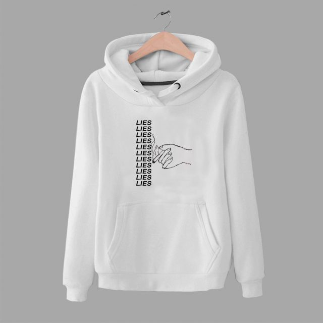 Lies Smoke Hand Unisex Hoodie Urban Fashion Design