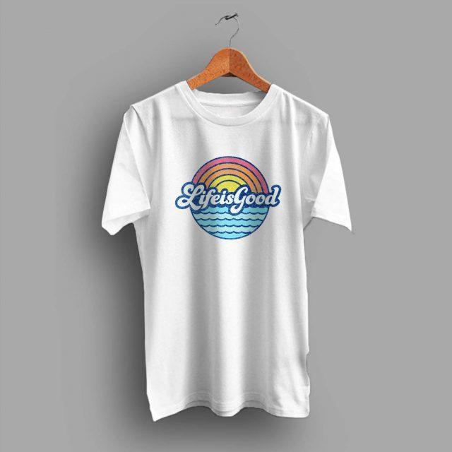 Life Is Food Sunny Beach Summer T Shirt