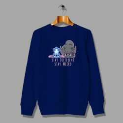 Lillo Stitch Dragon Stay Weird Unisex Sweatshirt