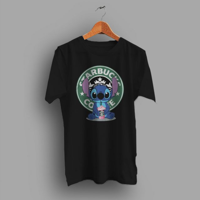 Lilo Stitch Starbucks Coffee Funny T Shirt Inspired