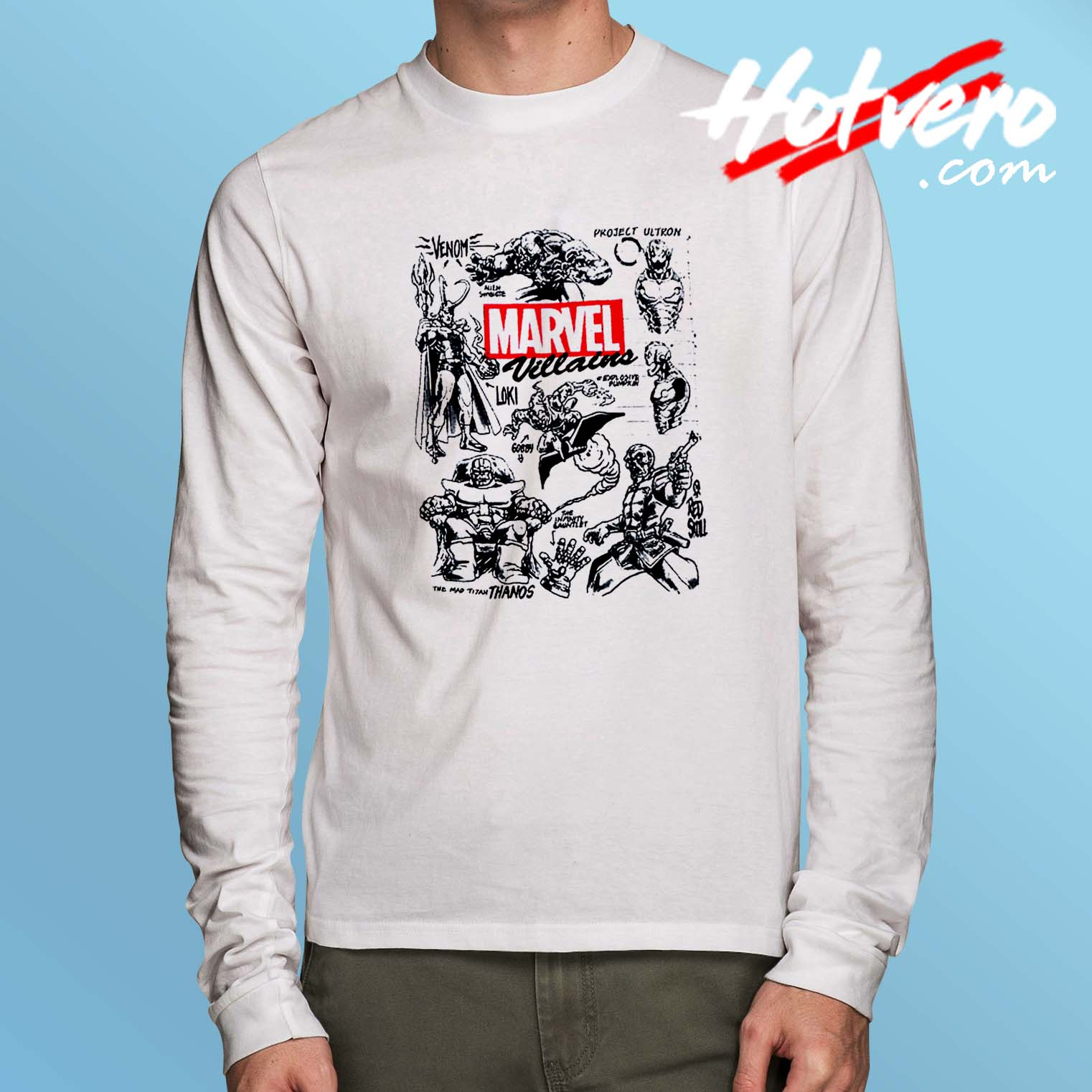 c910754f Marvel Vilains All Character Long Sleeve Shirt - Hotvero.com