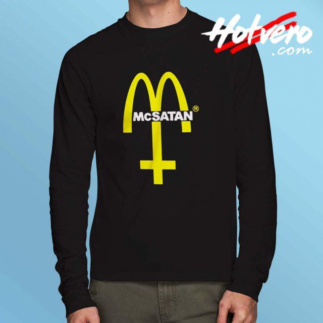 McDonald Mc Satan Parody Long Sleeve Shirt