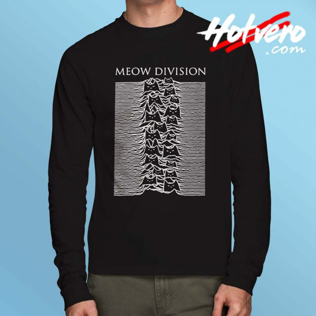 Meow Joy Division Parody Long Sleeve T Shirt