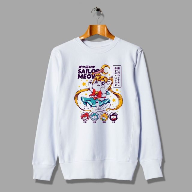 Meow Sailor Moon Parody Unisex Sweatshirt