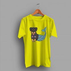 Mermaid Cartoon Cute Rottweiler T Shirt