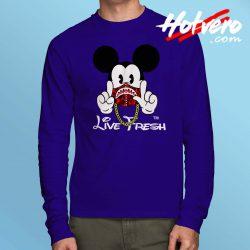 Mickey Bape Live Fresh Long Sleeve Shirt