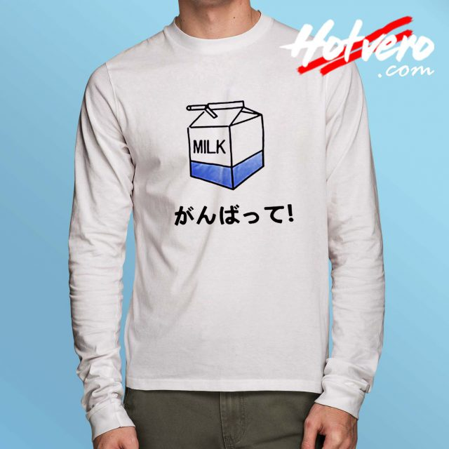 Milk Japanese Lifestyle Long Sleeve Shirt