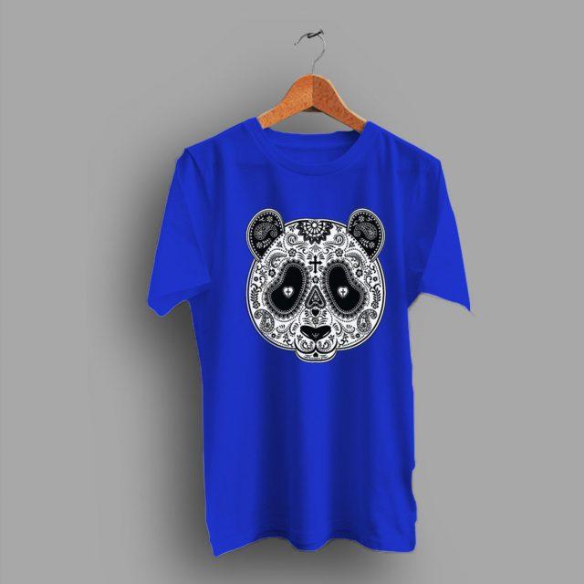 Muertos Paisley Panda Skull T Shirt