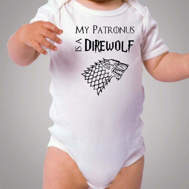 My Patronus Is A Direwolf Game Of Thrones Baby Onesie