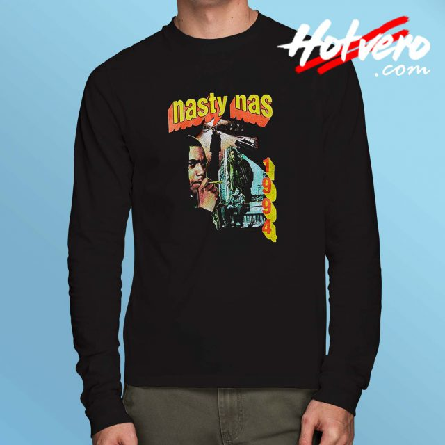 Nasty Nas Vintage Hip Hop Long Sleeve Shirt