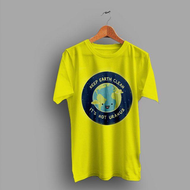 Nature Vegan Keep Earth Clean Geek T Shirt