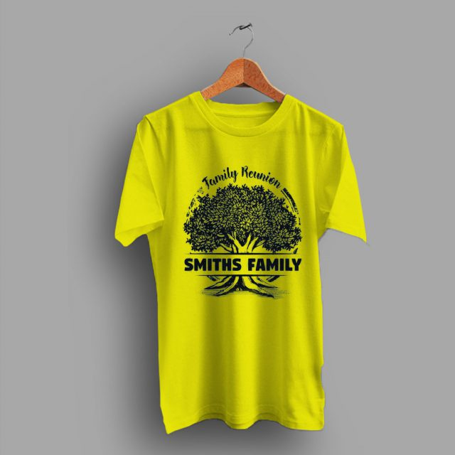 Notes Tree Vacation Smith Family Reunion T Shirt