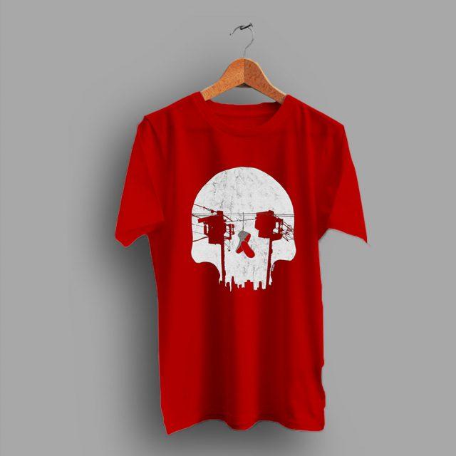 Optical Illusion Los Angeles Echo Park Skull T Shirt