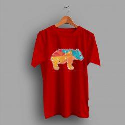 Panda Polygonal Colorful Animal Cute T Shirt