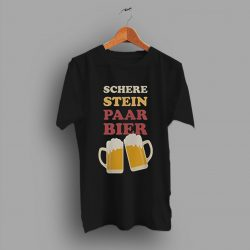 Party Fun Schere Stein Paar Beer T Shirt