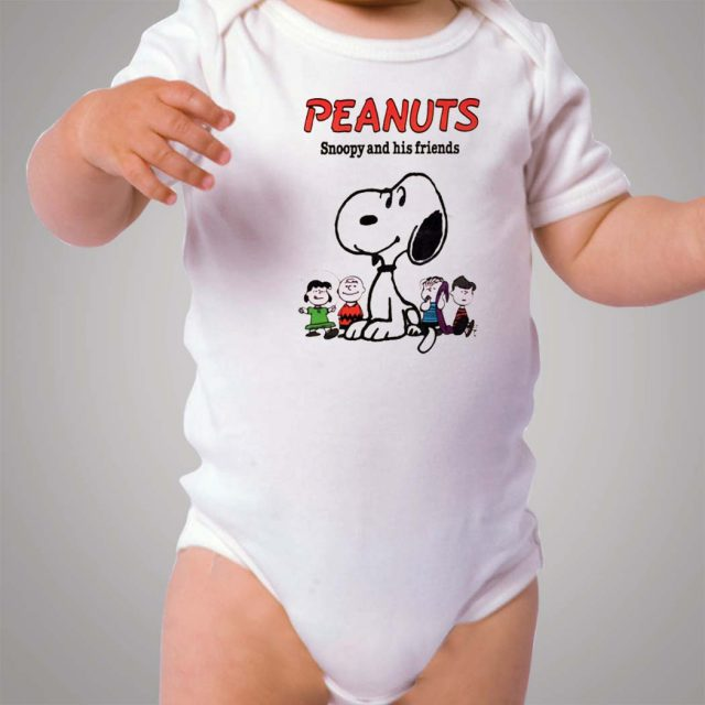 Peanuts Snoopy And His Friends Baby Onesie Bodysuit