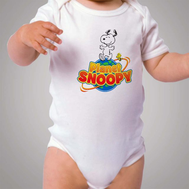 Planet Snoopy And Woodstock Baby Onesie Bodysuit