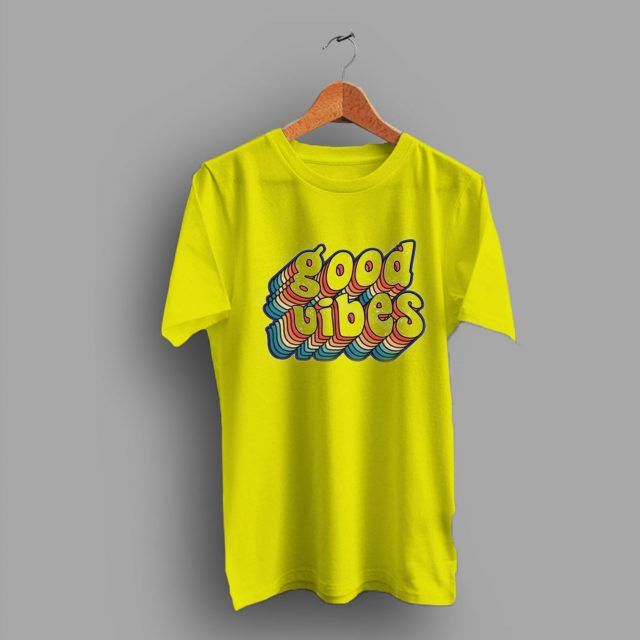 Positive Kind Good Vibes Crop Top Hipster Vintage 80s T Shirt
