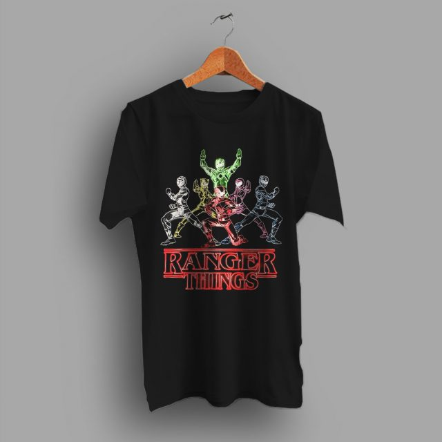 Power Ranger Stranger Things Inspired Funny T Shirt